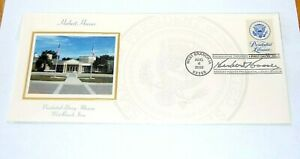 2005 HERBERT HOOVER FIRST ISSUE STAMP ENVELOPE Presidential Library pinback pin