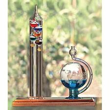 Collections Galileo Thermometer Etched Glass Globe Barometer Desk Toy - 11 inch