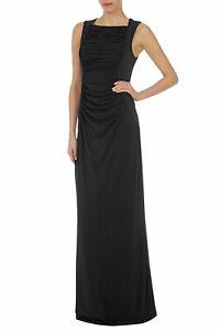Stunning Coast Black Penita Ruched Drape Maxi Evening Occasion Dress Size 10