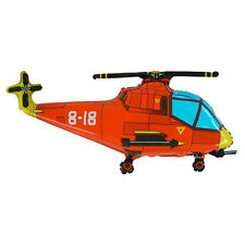 Helicopter Gun Ship Red Large Foil Balloon 76 cm Birthday Party Event Decor