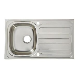 Cooke Lewis Stainless Steel Kitchen Sinks Without Taps For Sale Ebay