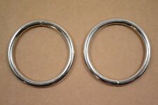"O Ring - 2"" - Nickel Plated - Wire Welded - Pack of 6 (F427)"