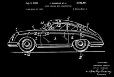 1962 - Porsche 356 - Motor Vehicle Body Construction - Patent Art Poster