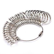 Metal 27PCS Finger Ring Sizer Tool Jewelrys Measure Gauge Equipment US Size 0-13