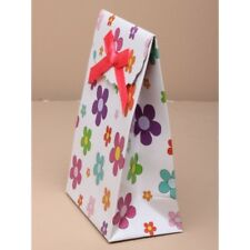 NEW 12 Daisy flower print touch fastening top gift box bag favour 13x9x5cm