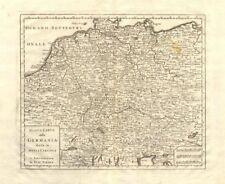 'Nuova Carta della Germania divisa in dieci circoli' by Isaak TIRION 1740 map