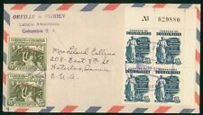Mayfairstamps Colombia 1950s Block & Pair to Iowa Waterloo cover wwo1667
