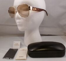 NEW COACH OLIVIA DARK TORTOISE & LIGHT GOLD FRAME AVIATOR SUNGLASSES L944 HC7049