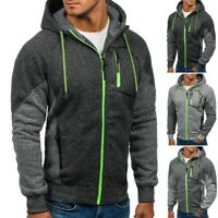 Fashion Men Sweatshirt Hoodie Hooded Cardigan Outerwear Coat Jacket Overcoat