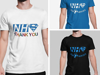 NHS Charity T-shirt | Clap for Heroes Thank you Rainbow Design | 10% to NHS