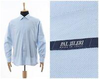 Mens PAL ZILERI Shirt Button Down Shirt Long Sleeve Blue Size 2XL XXL