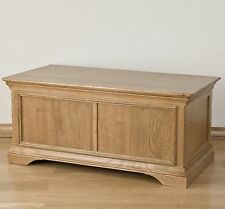 Lourdes solid oak french furniture bedroom blanket storage box chest trunk
