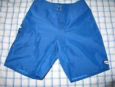 Quicksilver True Vintage Shinny Blue 100% Nylon Board Shorts USA Made 28 Men