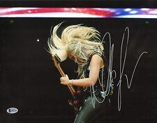Nita Strauss Signé 11x14 Photo Bas Beckett COA Alice Cooper Guitare de