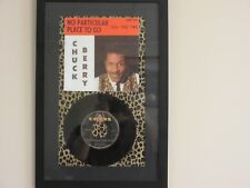 FRAMED ' CHUCK BERRY ' HIT 45' & PICTURE       THE 60's!