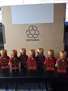 Lego iron man minifigure genuine X7