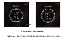 D'ADDARIO NYXL1046 Regular Light 2 SET DI CORDE PER CHITARRA ELETTRICA 010/046