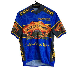 Pearl Izumi Mens Sierra Nevada Half Zip Beer Cycling Jersey S Small MTB Blue