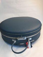Vintage Retro AMERICAN TOURISTER Hat Case Blue w KEYS Round Suitcase ER -2 Piece