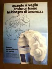 Schiuma barba Erasmic Anche un leone vuole tenerezza Pubblicità vintage anni '70