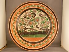 """Vintage Jose Bernabe Tonala Mexico Pottery Charger Birds Squirrels 12"""""""