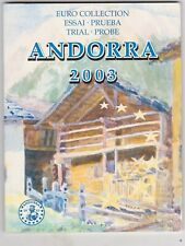 More details for 2003 andorra trial eight coin euro set in a card pack in near mint condition.
