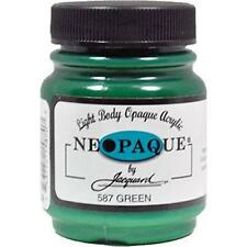 GREEN Jacquard NEOPAQUE Acrylic Fabric Paint 2.25 oz stencilling ink paint