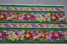 """By 1/2 Yd, Bright Floral on Green Fabric/SSI/Herbie/""""Floral Fascination"""", N3996"""