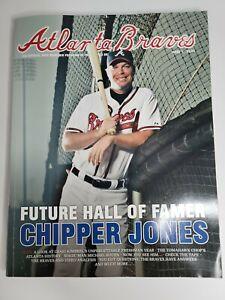 2012 ATLANTA BRAVES Chipper Jones Souvenir Program Issue #1 Jones final Season