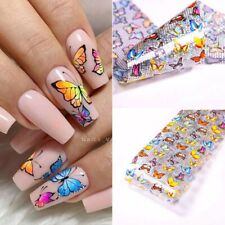 RAINBOW BUTTERFLY  Nail Art Foil Sticker Transparent Transfer Foils For Manicure