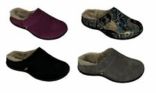 Strive Vienna Orthotic Womens Slipper Suede Leather Furry Lining Slide