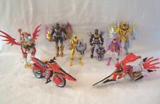 6x MYSTIC FORCE POWER RANGERS - 2x transform + 2x VEHICLES, 1x RANGER & DRAGON