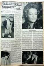 ROMY SCHNEIDER and her sister: 2 pages 1982 SPANISH CLIPPING / COUPURE DE PRESSE