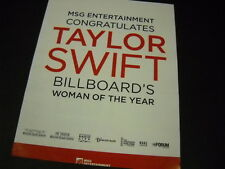 TAYLOR SWIFT Congrats from MSG Entertainment PROMO DISPLAY AD mint condition