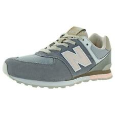 New Balance Girls 574 Gray Fashion Sneakers 7 Medium (B,M) Big Kid BHFO 9295