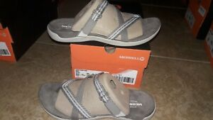 NEW $70 Womens Merrell District Mendi Thong Sandals, size 10          shoes