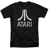 Atari ROUGH LOGO Vintage Style Licensed Adult T-Shirt All Sizes