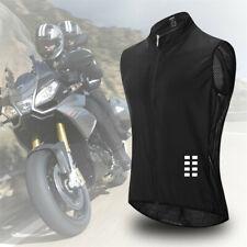 Men's Cycling Gilet Jacket Mesh Back Vest Waistcoat with Reflective Strip