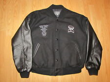 Chippendale's World Tour Black Leather & Wool Jacket - Men's Large