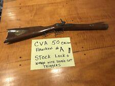Cva 50 Cal Hawken Muzzleloader Stock & Lock Double Set Triggers 15/16'' #A Vtg