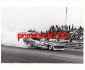 """ED """"THE ACE"""" McCULLOCH'S """"REVELLUTION"""" FUNNY CAR BLACK & WHITE PHOTO'S"""
