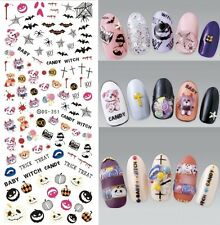 Halloween Nail Art Water Decals Transfers Bat Trick or Treat Candy Pumpkin 351