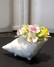 Royal Doulton Bone China Floral Shell Figurine