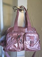 Kipling Defea Handbag Icy Rose Gold Metallic Convertible Crossbody