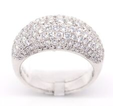 Unique 18k White Gold VS1-VS2,1.92tcw Pave Diamond Engagement 5mm Band Ring 6.25