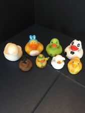 B17) Assorted Rubber Duck Ducks Duckys Duckies LOT OF 8 Different