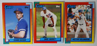1990 Topps Traded Chicago Cubs Team Set of 3 Baseball Cards