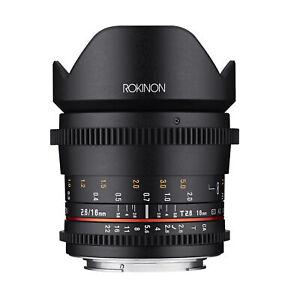 Rokinon 16mm T2.6 Full Frame Super Wide Angle Lens (Nikon F)