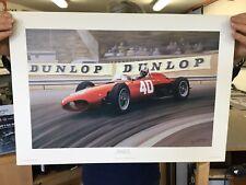 New listing Monaco GP 1961 Wolfgang von Trips Shark Nose Ferrari 156 Print Ray Goldsbrough