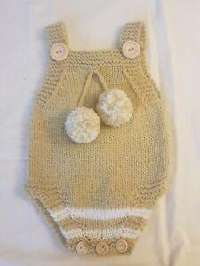 Hand Knitted Newborn Baby Romper